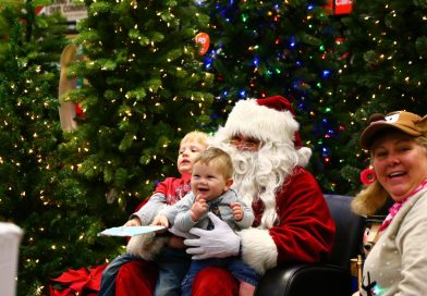 Santa's first stop this morning at Home Depot…